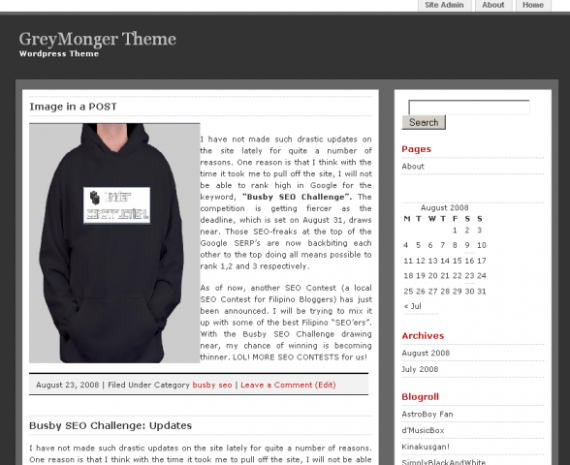 tema wordpress greymonger