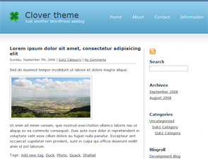 tema wordpress clover