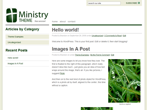 tema wordpress ministry