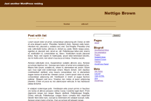tema wordpress nettigo brown