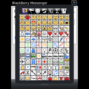 smileys y símbolos para BlackBerry