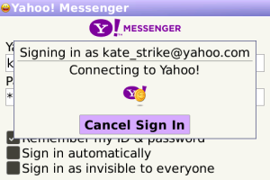 yahoo messenger para blackberry