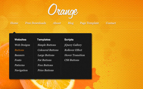 plantillas-photoshop-web-gratis-naranja