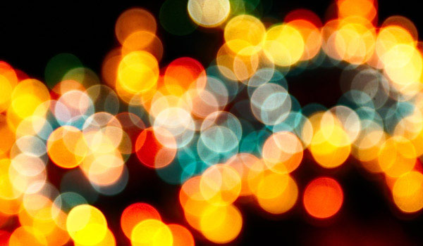 Colorful background of blurry lights.
