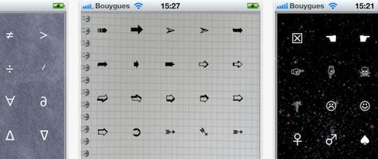 caracteres especiales iphone ipad