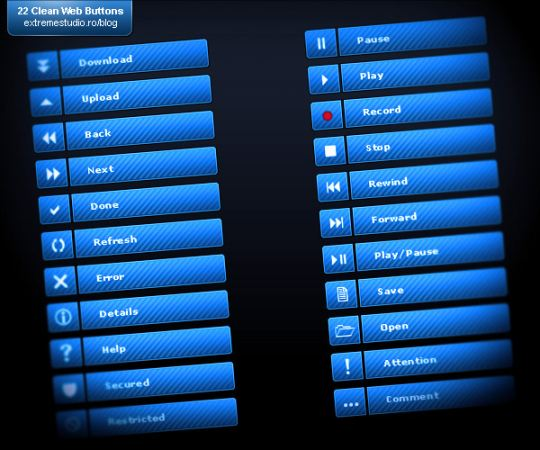 botones-psd-azules
