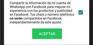 Evita que WhatsApp comparta tu número de teléfono con Facebook