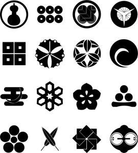 Símbolos Japoneses Variados En Blanco Y Negro Vectores Gratis