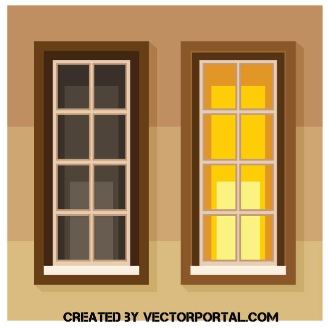 Ventanas con luces de la casa encendidas y apagadas - Donde se puede poner una casa de madera ...