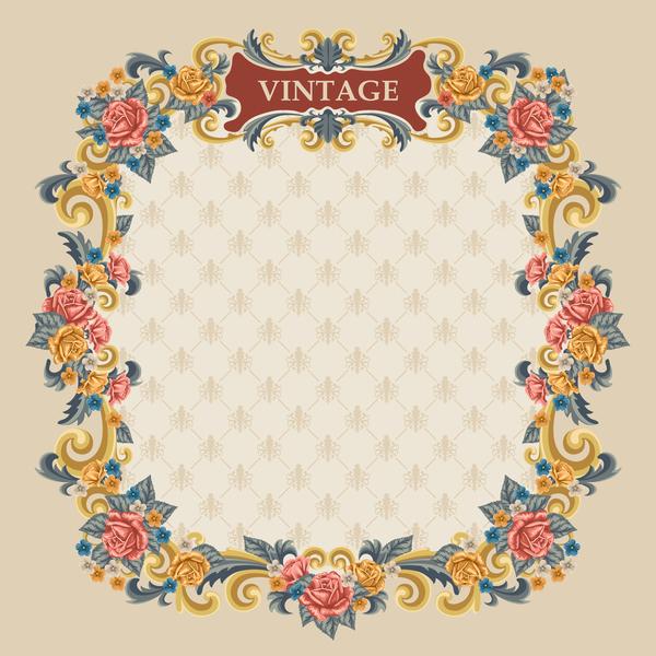Marco estilo vintage con flores - Vectores Gratis - WebGenio