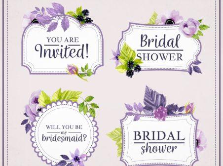 Marcos para bodas con flores - Vectores Gratis - WebGenio