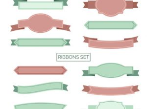 Set de 12 ribbons en colores