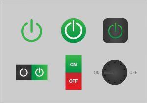 Botones de encendido y apagado