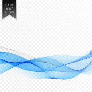 Fondo transparente con olas azules