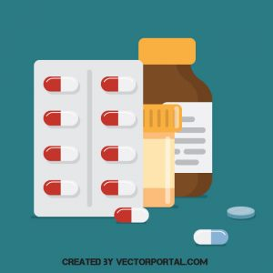 Varias píldoras y pastillas