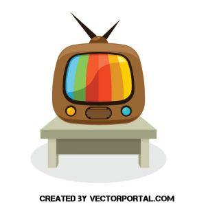 Televisor antiguo retro