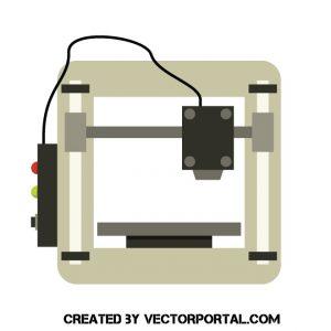 Impresora 3d clipart