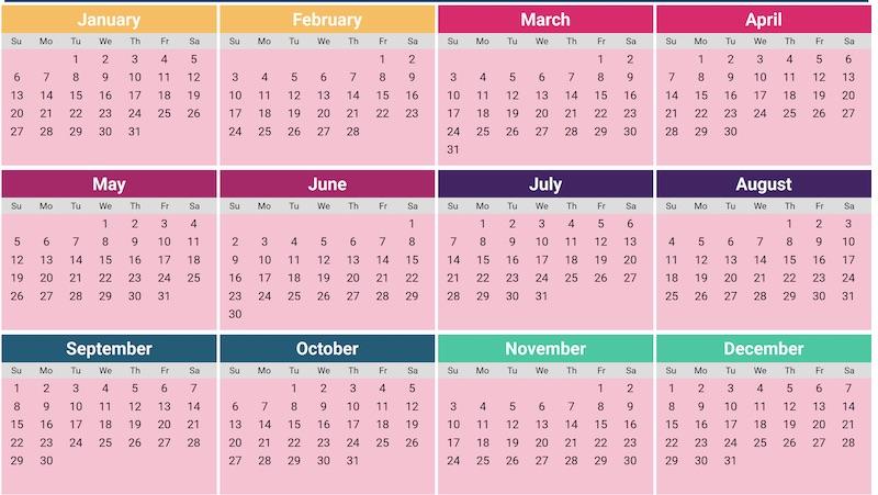 Calendario Colombia 2019 Para Imprimir.Calendarios 2019 Listos Para Imprimir O Para Usar Como