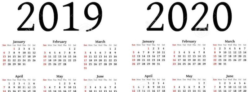 Calendario Del Ano 2020 En Espanol.Calendarios 2019 Listos Para Imprimir O Para Usar Como